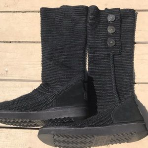 UGG CLASSIC CARDY BOOT - BLACK